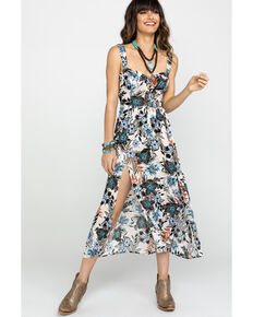 07ad88178a8 Shyanne Women s Floral Sweetheart Button Front Slit Dress