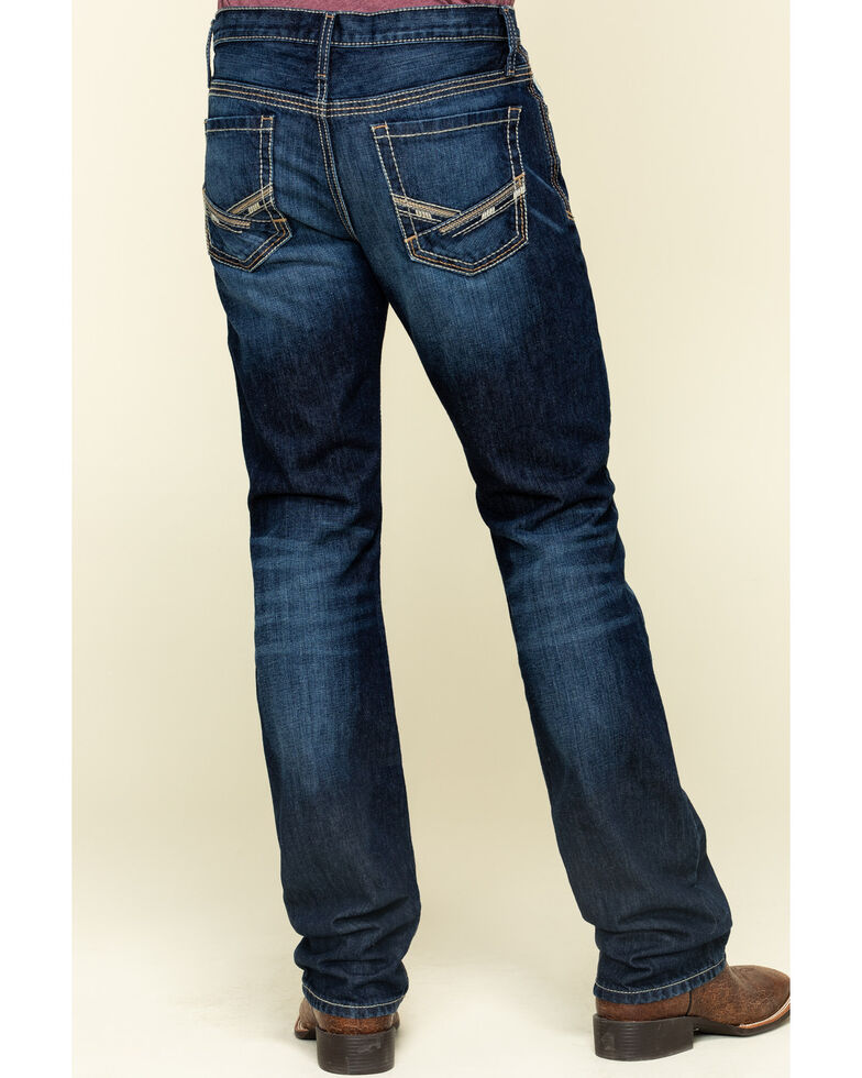 Cinch Men's Ian Rinse Dark Rigid Slim Bootcut Jeans , Indigo, hi-res