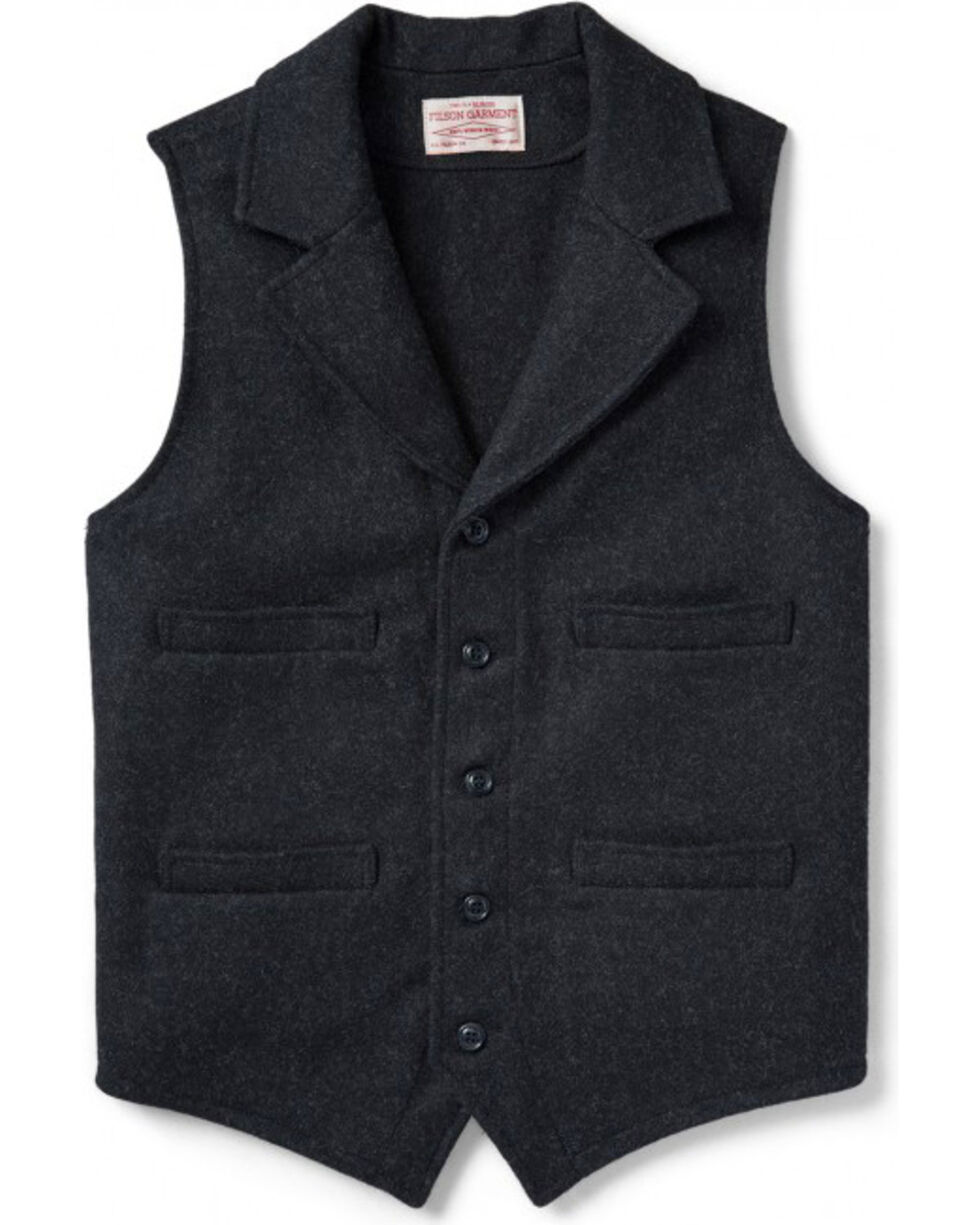 Filson Men's Charcoal Western Vest, Charcoal, hi-res