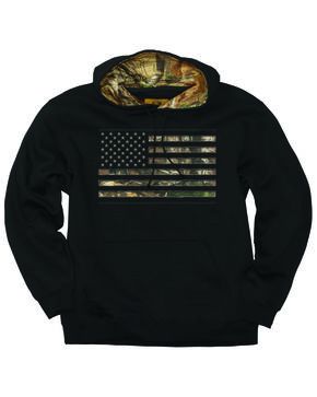 Buck Wear 2X Men's Camo Stars And Stripes Hoodie , Black, hi-res