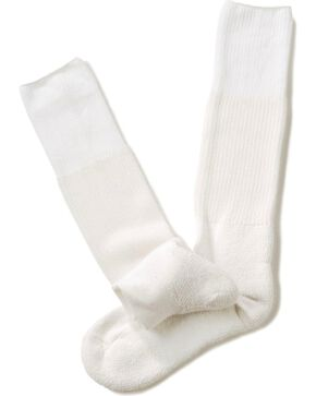 Thorlo 1-Pair Over the Calf Western Dress Socks, White, hi-res