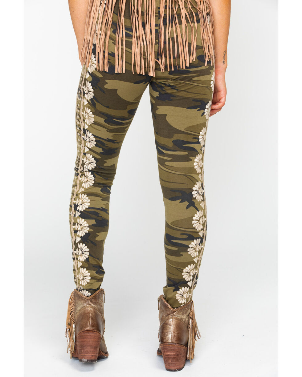 Johnny Was Women's Rita Leggings , Camouflage, hi-res