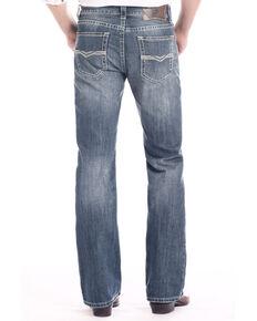 Rock & Roll Cowboy Men's Dark Pistol Regular Stretch Boot Jeans , Blue, hi-res