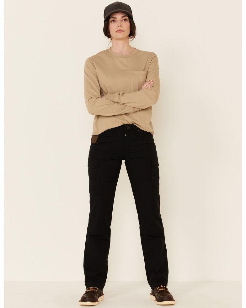 Wrangler Women's Black Ranger Straight Leg Work Pants, Black, hi-res