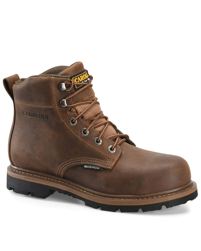 Carolina Men's Dormer Work Boots - Soft Toe, Brown, hi-res