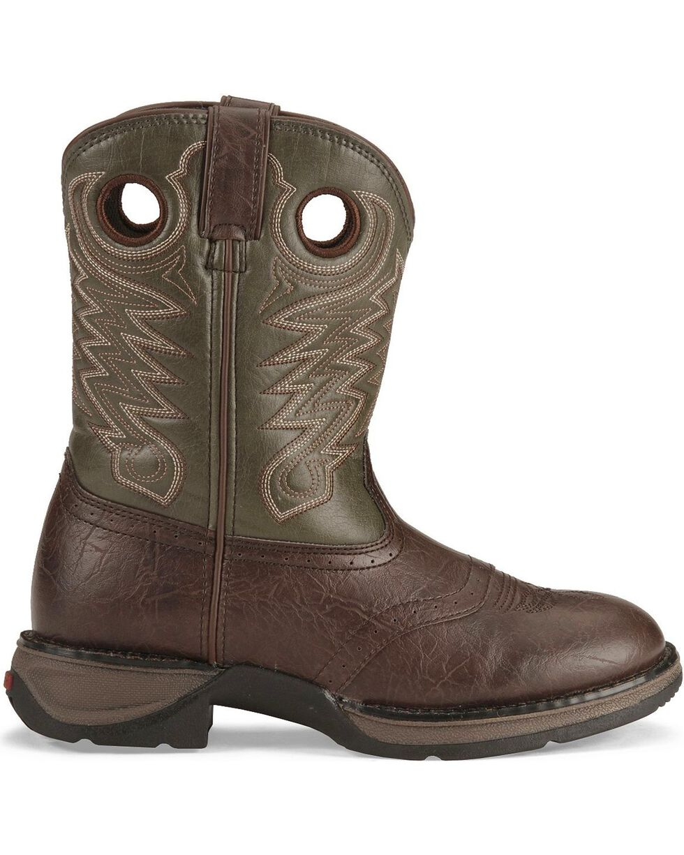 Durango Kid's Rebel Western Boots, Dark Brown, hi-res