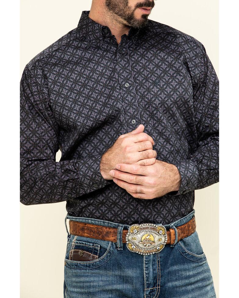 Ariat Men's Fanton Stretch Geo Print Long Sleeve Western Shirt , Multi, hi-res