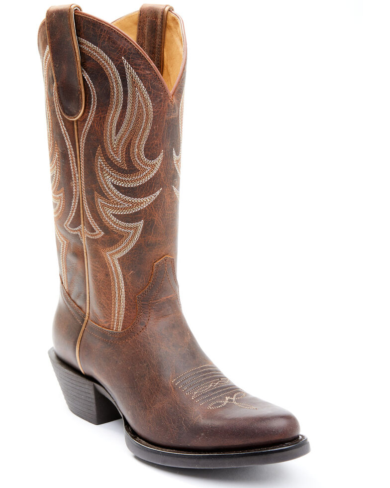 Shyanne Women's Morgan Western Boots - Round Toe, Brown, hi-res