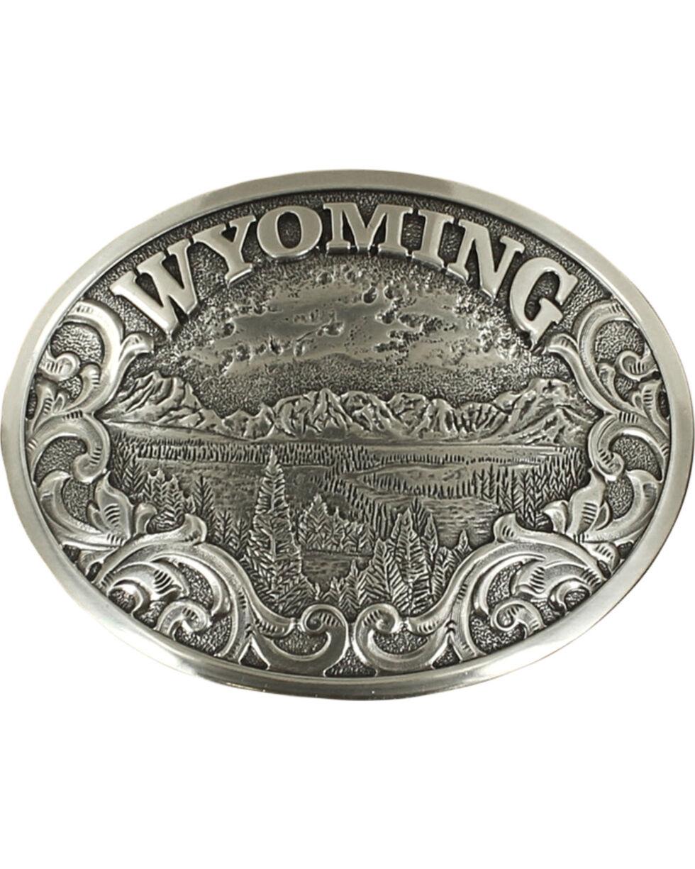 Nocona Men's Silver Wyoming Belt Buckle , Silver, hi-res