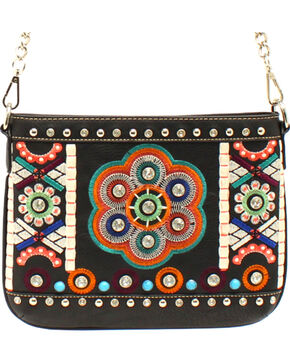 Blazin Roxx Women's Embroidered Crossbody Bag, Black, hi-res