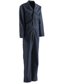 Berne Flame Resistant Deluxe Coveralls - Tall (56T - 60T), Navy, hi-res