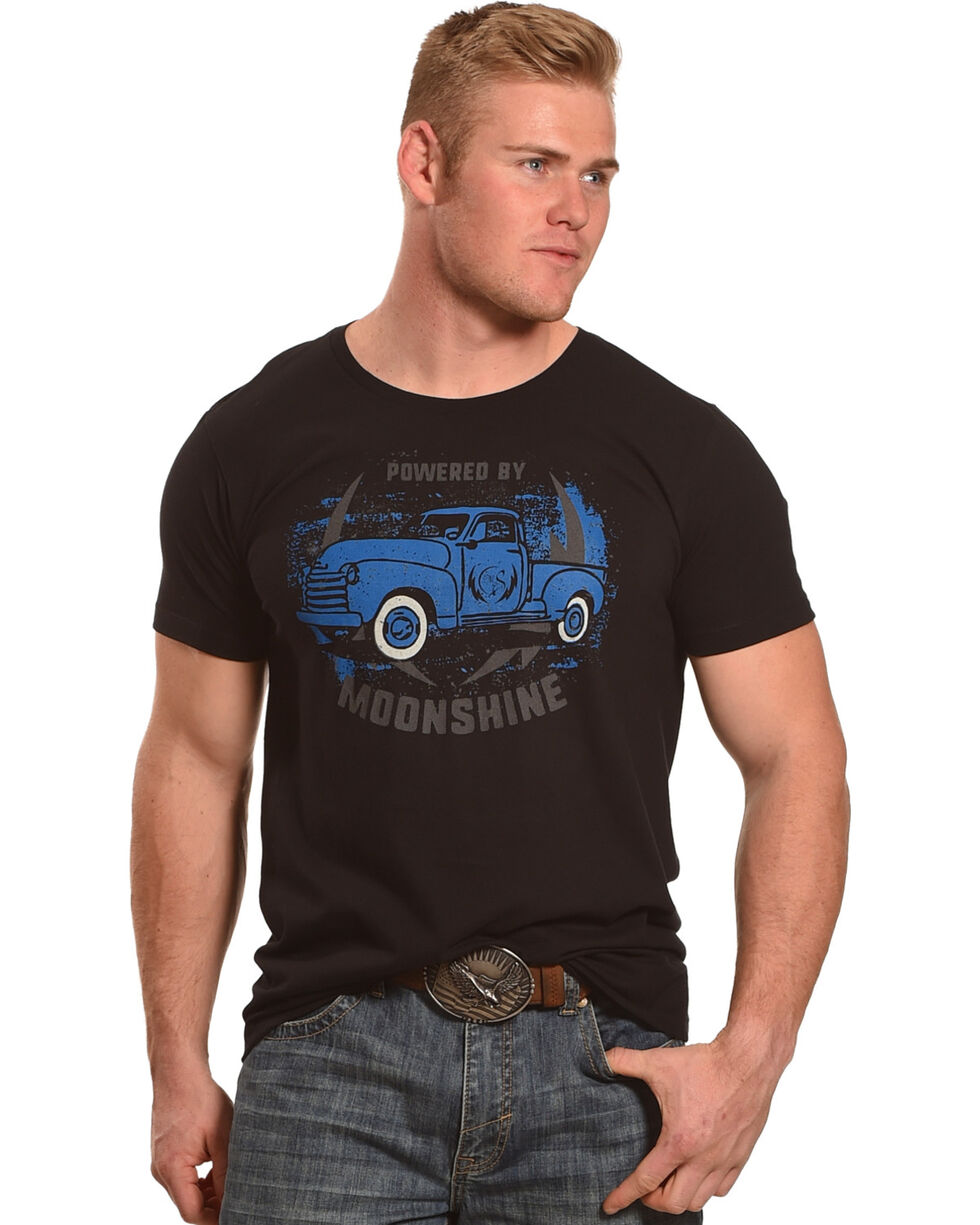 Moonshine Spirit Men's Powered by Moonshine T-Shirt, Black, hi-res