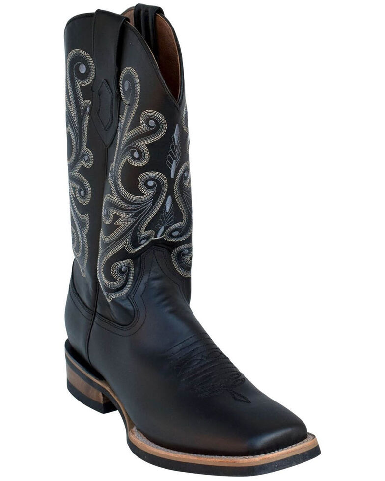 Ferrini Men's French Calf Western Boots - Square Toe, Black, hi-res