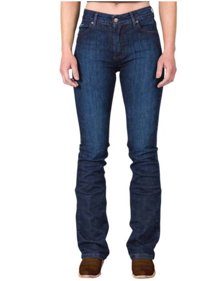 Kimes Ranch Women's Dark Wash Audrey Bootcut Jeans , Blue, hi-res
