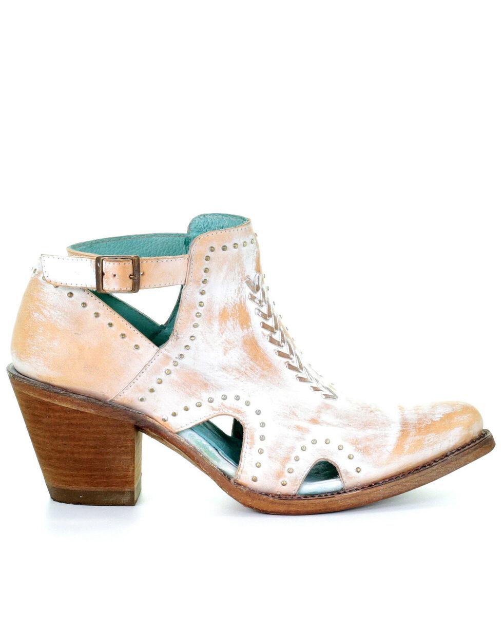 Corral Women's White Studs Fashion Booties - Snip Toe, White, hi-res