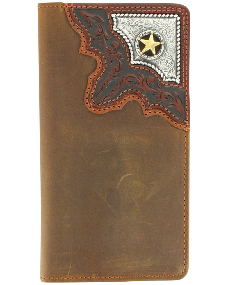 Cody James Men's Cowboy Way Wallet and Checkbook Cover, Brown, hi-res