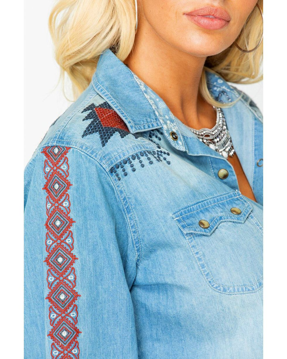 Tasha Polizzi Women's Guthrie Embroidered Denim Shirt, Indigo, hi-res