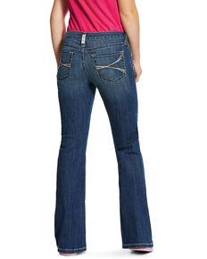 Ariat Girls' Medium R.E.A.L. Lucia Bootcut Jeans , Blue, hi-res