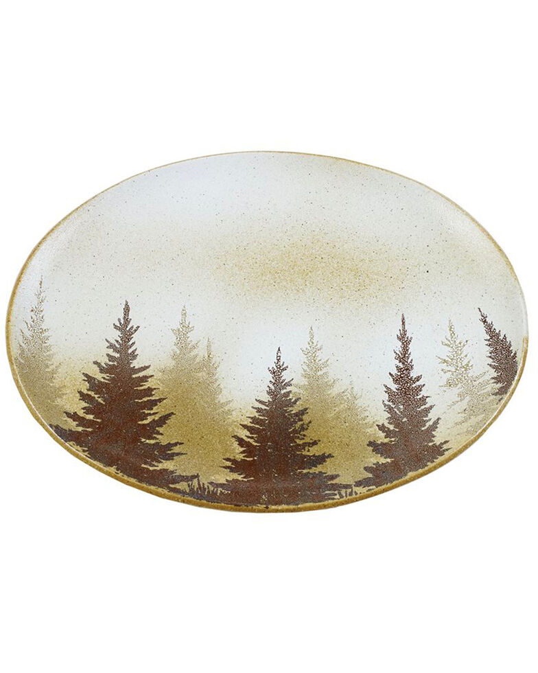 HiEnd Accents Clearwater Pines Serving Platter, Brown, hi-res