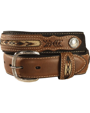 Nocona Belt Co. Boy's Aztec Print Belt, Black, hi-res
