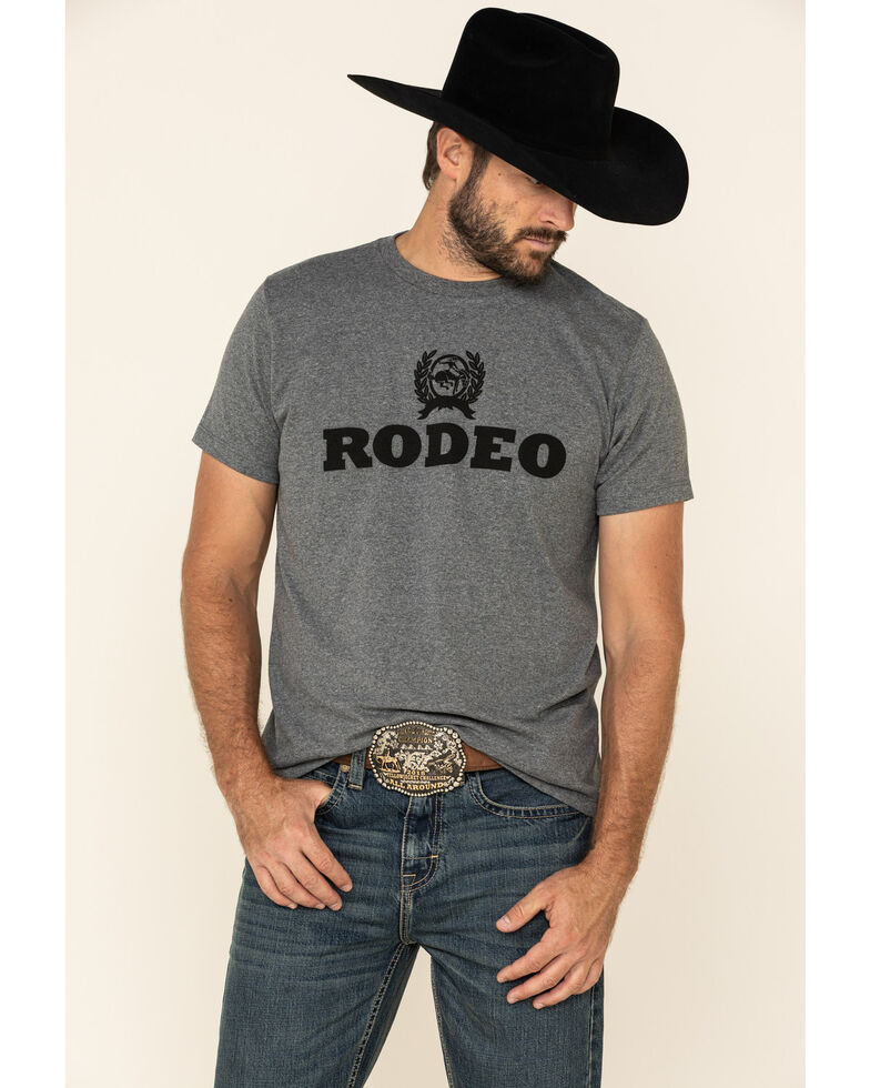 Cinch Men's Grey Rodeo Graphic T-Shirt , Grey, hi-res