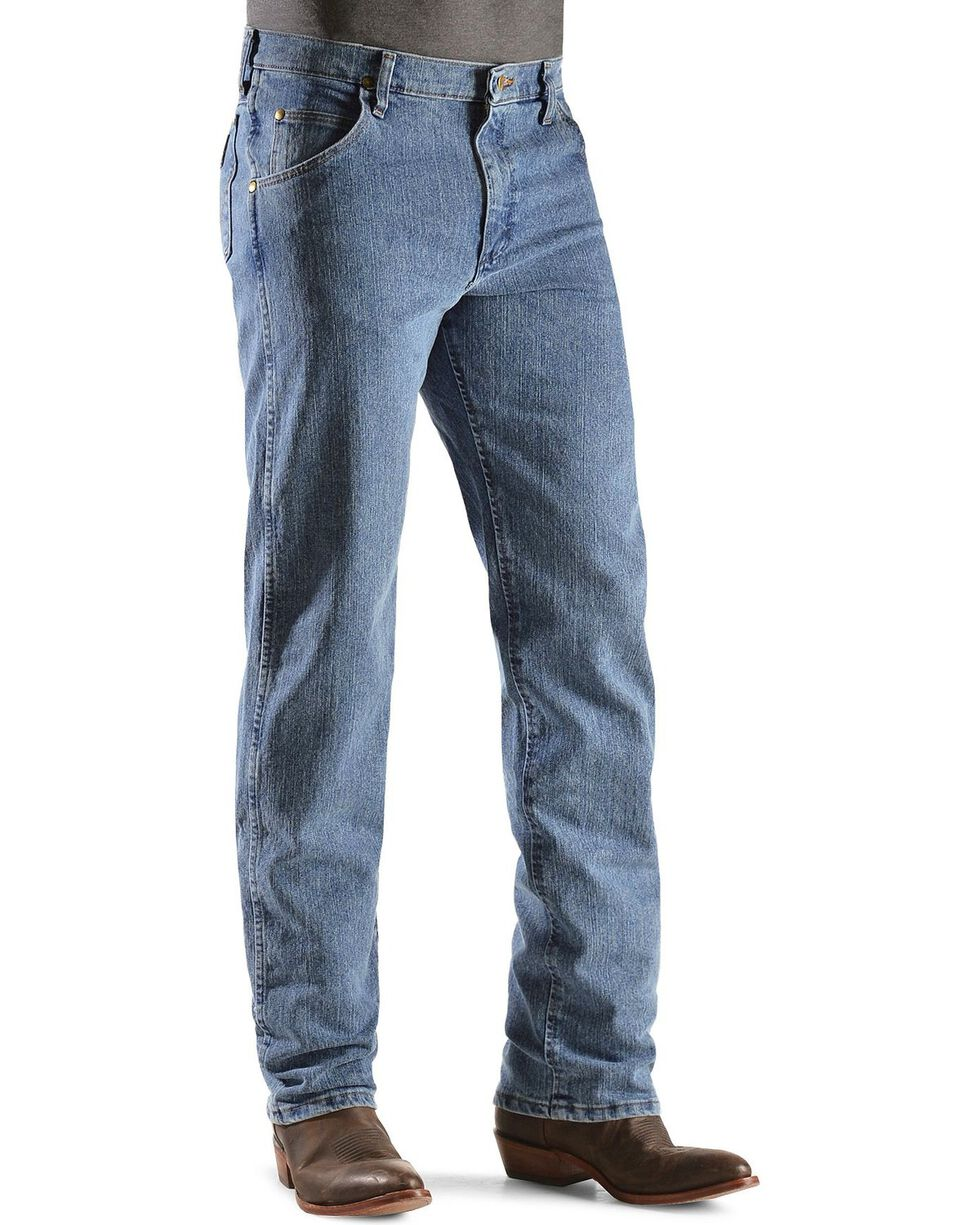 Wrangler Men's Premium Performance Advanced Comfort Jeans, Light Stone, hi-res