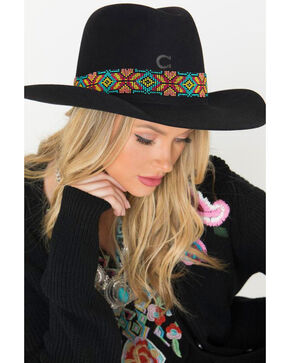 Resistol Women's Gold Digger Concho Western Hat, Yellow, hi-res