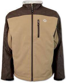 HOOey Boys' Color-Block Soft-Shell Jacket , Tan, hi-res