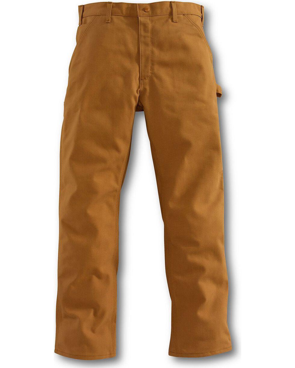 Carhartt Flame Resistant Duck Work Dungaree Pants, Brown, hi-res