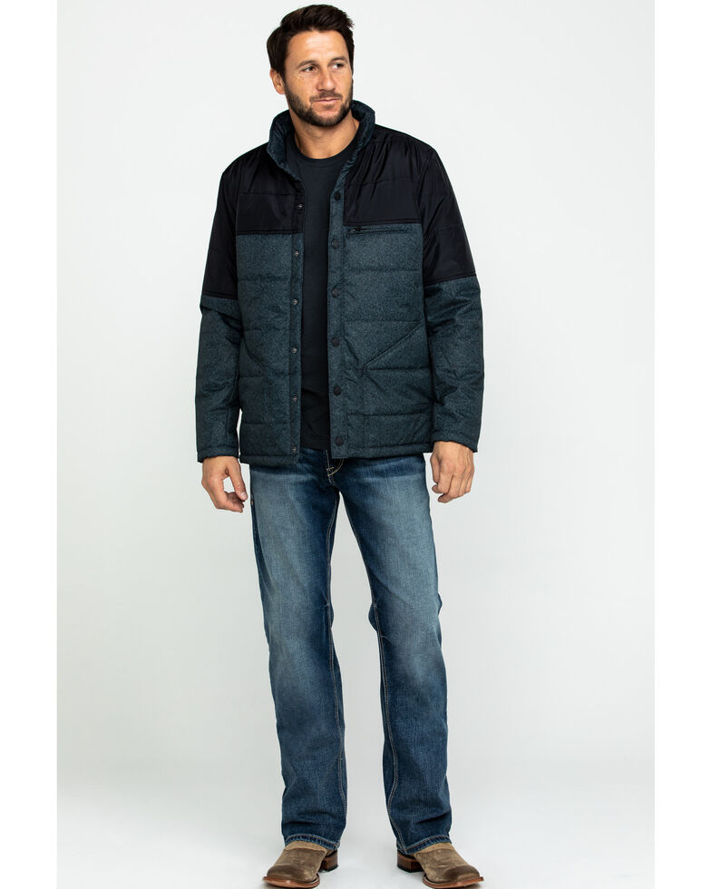 Cody James Men's Climber Lightweight Two-Tone Puffer Coat , , hi-res