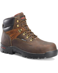 "Carolina Men's 6"" WP Composite Toe Work Boots, Dark Brown, hi-res"