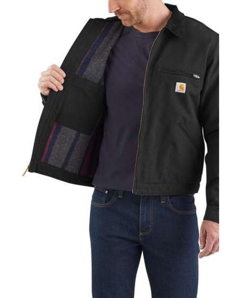 Carhartt Men's Duck Detroit Work Jacket , Black, hi-res