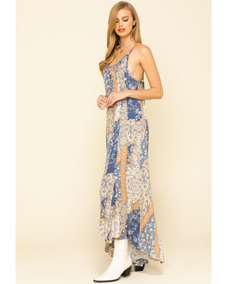Free People Women's Work of Art Printed Maxi Dress, Ivory, hi-res