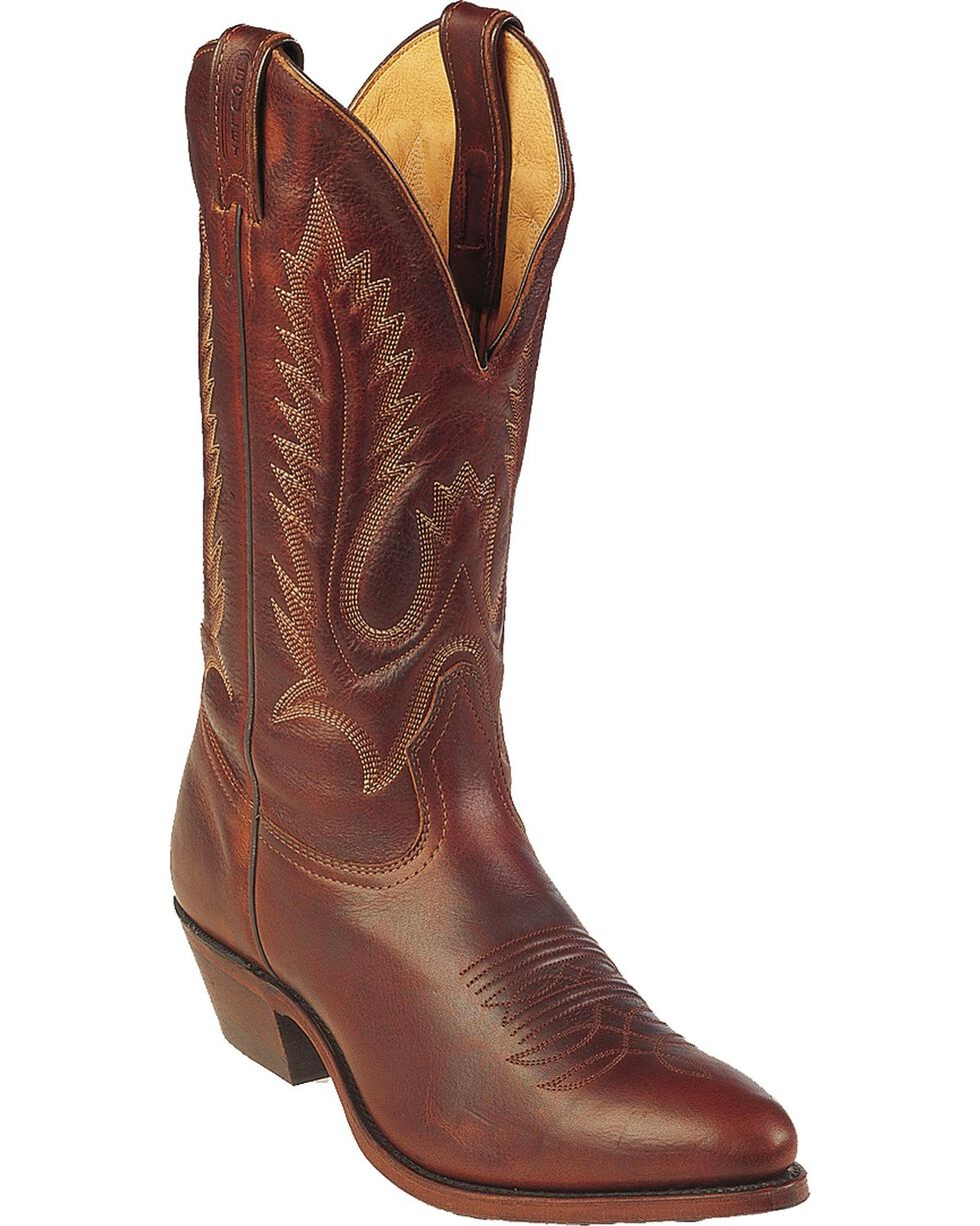 "Boulet Men's 13"" Medium Cowboy Toe Western Boots   , Brown, hi-res"