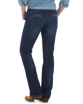 Wrangler Women's Aura Low-Rise Boot Cut Jeans, Indigo, hi-res