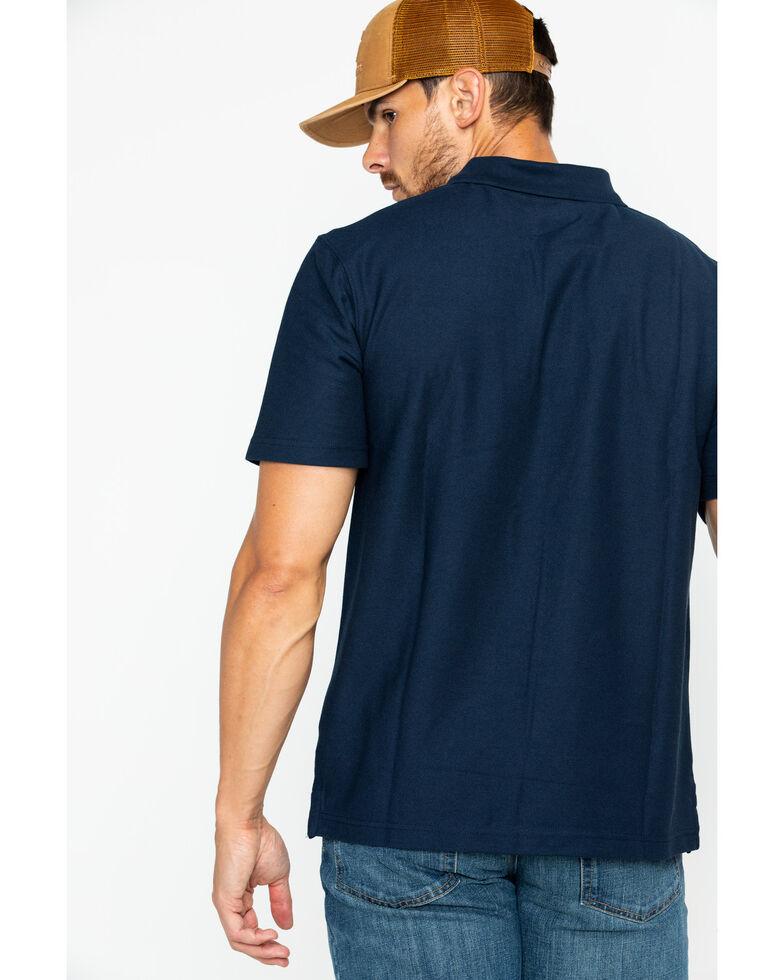 Carhartt Men's Contractor's Work Pocket Pique Polo, Navy, hi-res