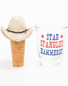 BB Ranch Star Spangled Hammered Shot Glass, Multi, hi-res