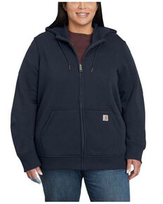 Carhartt Women's Navy Clarksburg Full-Zip Hoodie - Plus, Navy, hi-res