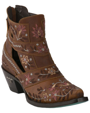 Lane Women's Camillia Western Booties - Snip Toe, Tan, hi-res