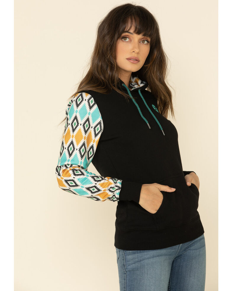HOOey Women's Prickly Pear Hoodie Sweatshirt, Black, hi-res