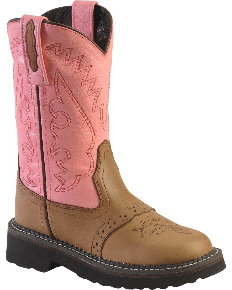 Jama Youth Flexi Tubbies Western Boots, Apache Tan, hi-res