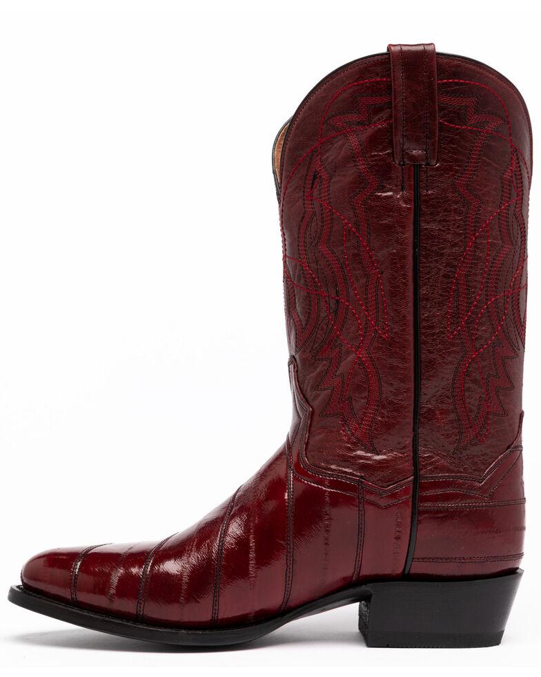 Dan Post Men's Wine Eel Western Boots - Round Toe, Wine, hi-res