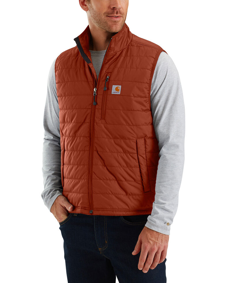 Carhartt Men's Gilliam Vest, Red/brown, hi-res