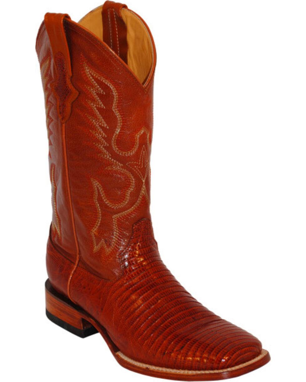 Ferrini Men's Teju Lizard Exotic Western Boots, Peanut, hi-res