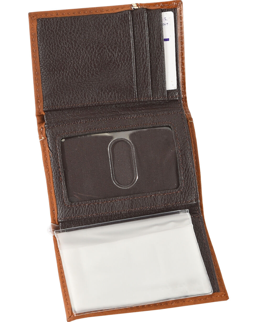 Cody James Men's Eagle Hardware Tri-Fold Wallet, Brown, hi-res