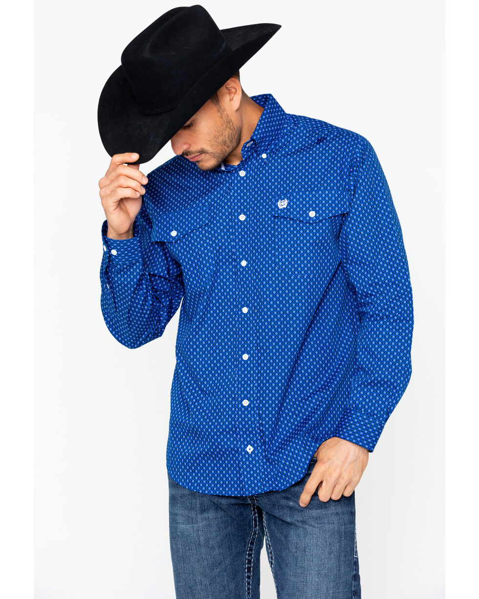 Cinch Men's Long Sleeve Print Western Shirt , , hi-res
