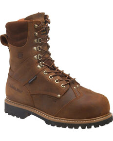 "Carolina Men's Met guard 8"" Work Boots, Brown, hi-res"