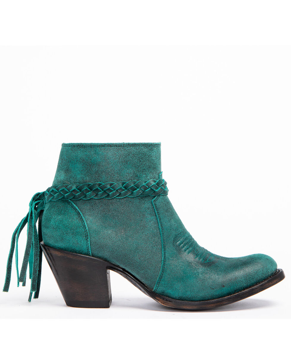 Shyanne Women's Danielle Turquoise Booties - Medium Toe, Turquoise, hi-res