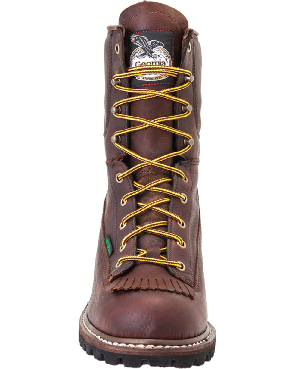 Georgia Men's Waterproof Logger Boots, Chocolate, hi-res