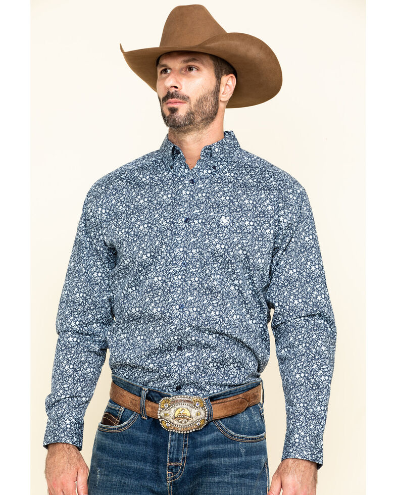 Ariat Men's Nellings Paisley Print Long Sleeve Western Shirt , Multi, hi-res